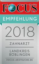 FOCUS Empfehlung 2018 Zahnarzt